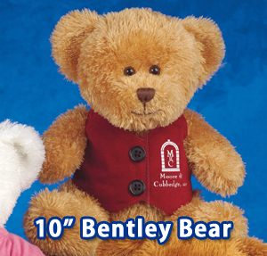 "10"" Bentley Bears are available in three colors:  white, light brown brown."
