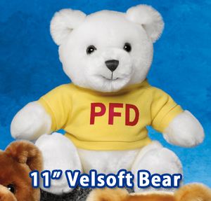 "11"" Velsoft Bears. These bears are very soft."