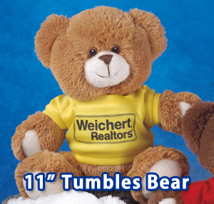 "10"" Tumbles Bears are available in multiple colors. We also offer Tumbles Dogs."