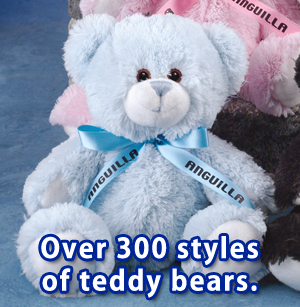 "11"" blue colored Tumbles Teddy Bear."